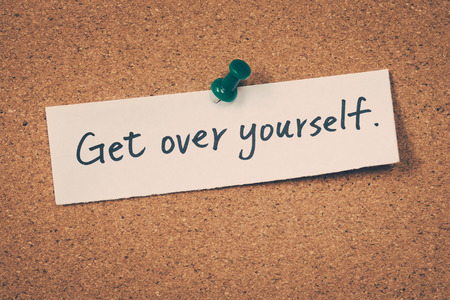 Get over yourself Stock Photo