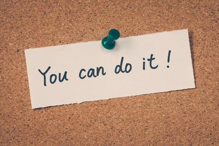 tu puedes: Puedes hacerlo