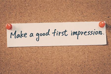 Make a good first impression Foto de archivo