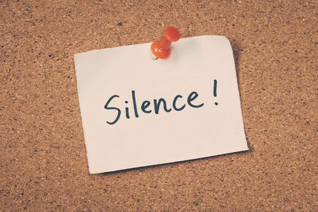 shhh: Silence Stock Photo