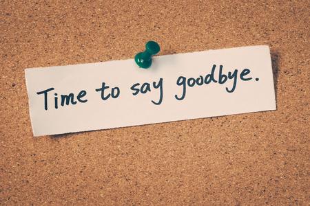 Es hora de decir adiós Foto de archivo - 42589488