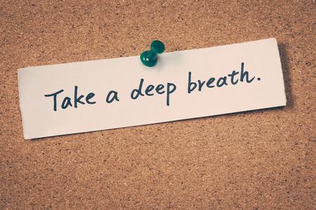 respiraci�n: Tome una respiraci�n profunda