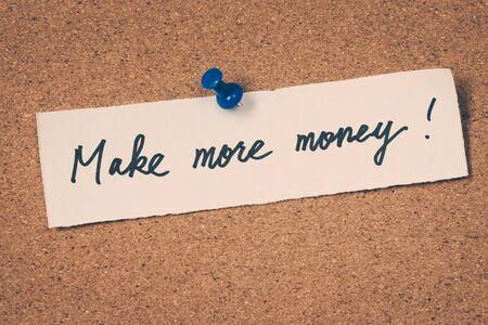 more: Make more money Stock Photo