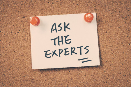 Ask the experts Stock Photo