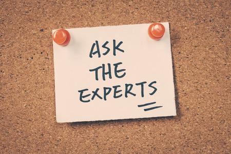 Ask the experts Foto de archivo