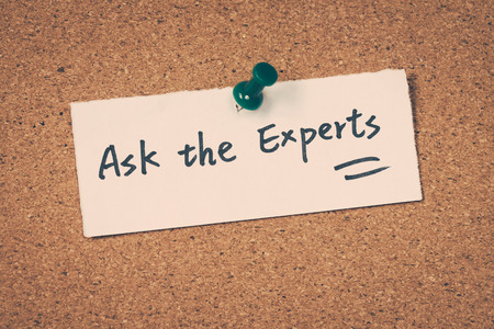 experts: Ask the experts Stock Photo