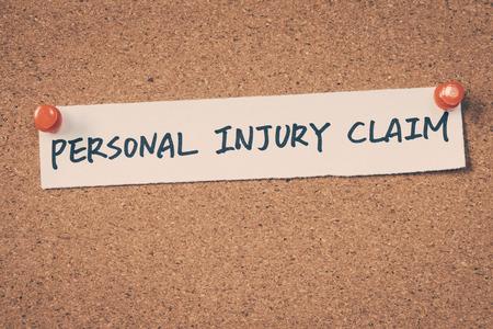 personal finance: Personal injury claim