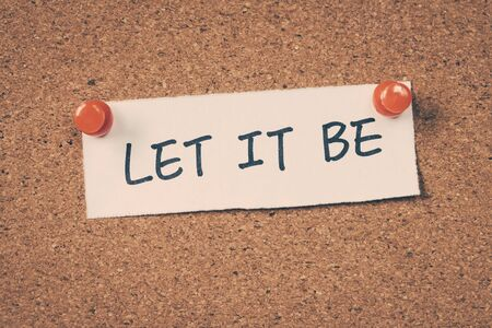to let: Let it be