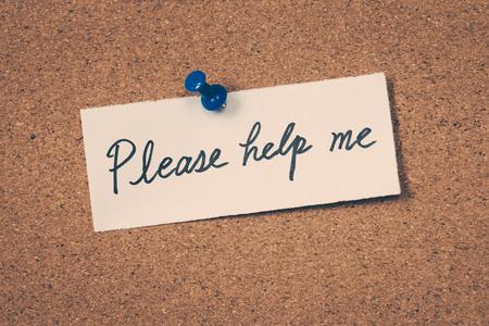 me: Please help me Stock Photo