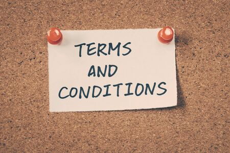 conditions: Terms and conditions