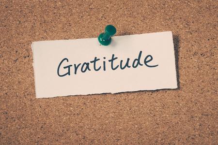 Gratitude Standard-Bild