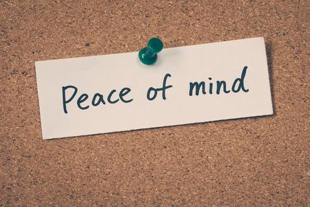 peace of mind: Peace of mind