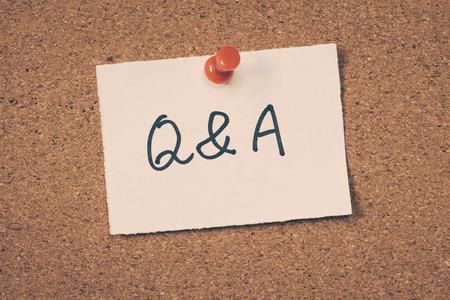 Q&A Foto de archivo