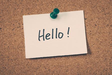 hello: Hello Stock Photo