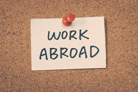 abroad: Work abroad Stock Photo