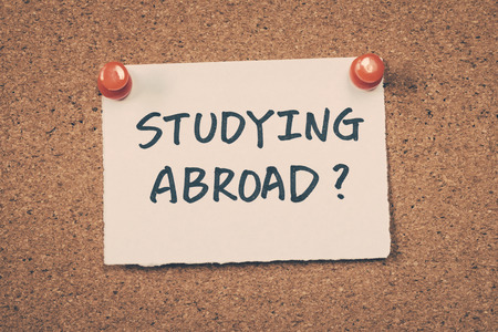 abroad: Studying abroad Stock Photo