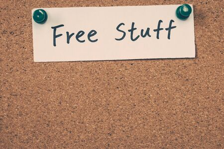spul: free stuff Stockfoto