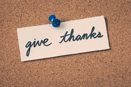 to thank: give thanks