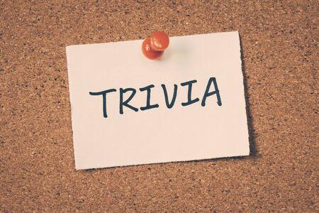 trivia: trivia Stock Photo