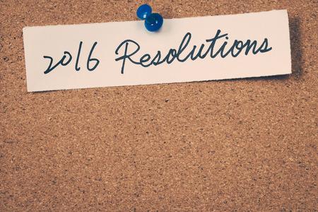 2016 resolutions Standard-Bild