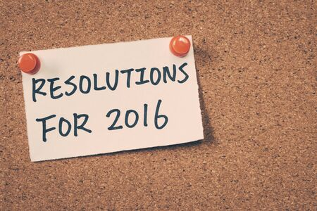 resolutions: resolutions for 2016