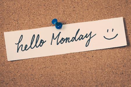 working week: hello Monday
