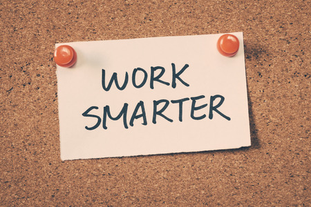 smarter: work smarter Stock Photo