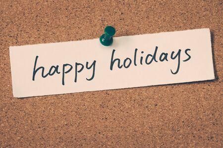 happy holidays: happy holidays Stock Photo