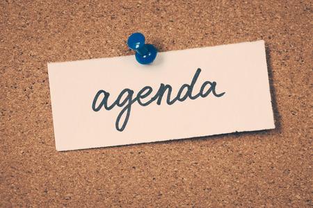 agenda Standard-Bild