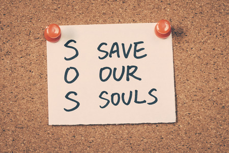 our: sos save our souls Stock Photo