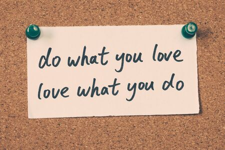 love life: do what you love Stock Photo