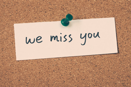 we miss you Stock Photo