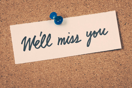 miss you: Well miss you Stock Photo