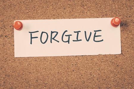 to forgive: perdonar