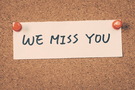 miss: we miss you Stock Photo
