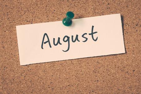 August Foto de archivo