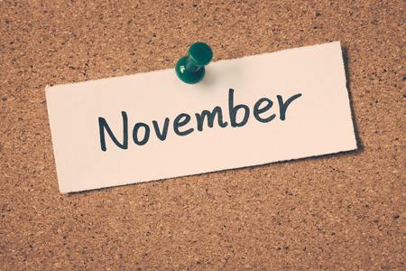 november: November Stock Photo
