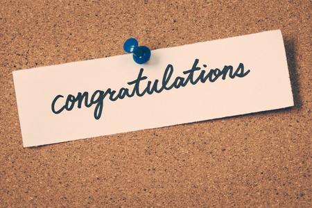 congratulations: felicidades