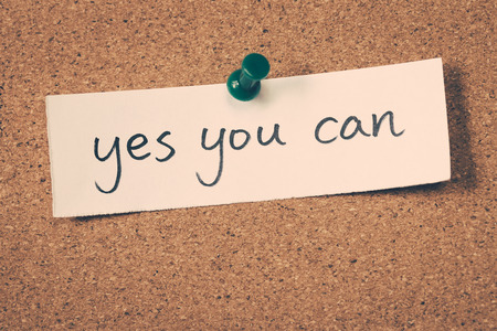 tu puedes: sí puedes Foto de archivo