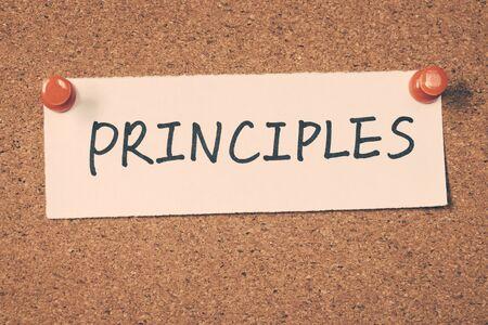 morals: principles