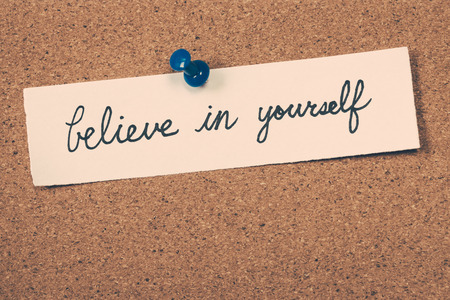 believe: cree en ti mismo Foto de archivo