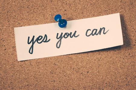 tu puedes: s� puedes Foto de archivo
