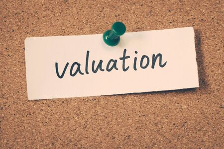 valuation: valuation Stock Photo