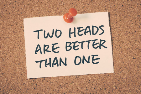 than: two heads are better than one word on note