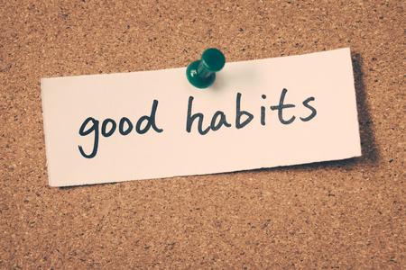 good habits: good habits Stock Photo