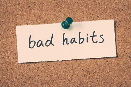 bad habits: malos habitos Foto de archivo