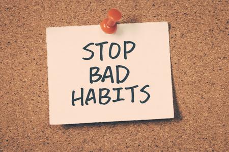 bad habits: dejar los malos hábitos