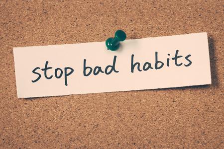 habits: stop bad habits Stock Photo