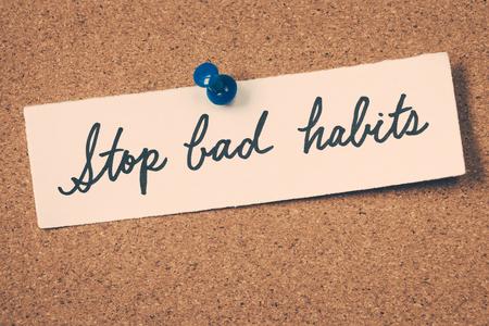 malos habitos: dejar los malos hábitos