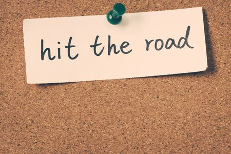 hit: hit the road
